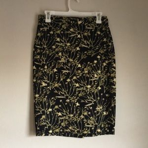 Banana Republic Pencil Skirt Plant Print